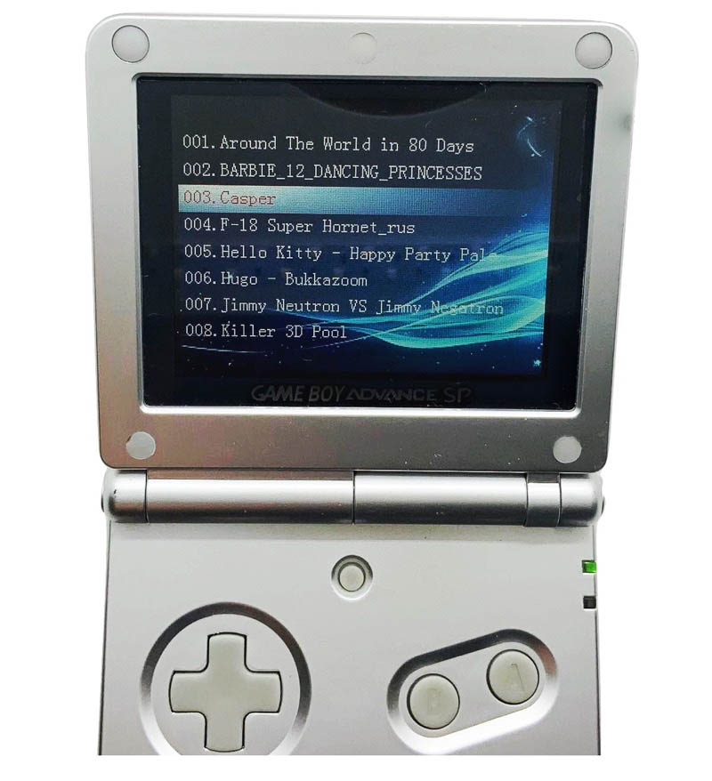 Fake Game Boy Advance SP Built-in games